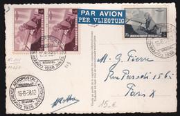 Conférence Aéropostale Européenne à Bruxelles - Oblitération Spéciale  -1938 - N°341 - Airmail