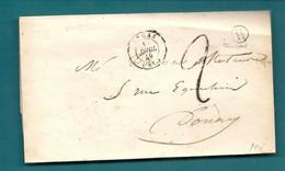 PAS DE CALAIS - ARRAS. Boite Rurale H De RIVIERE - 1849-1876: Classic Period