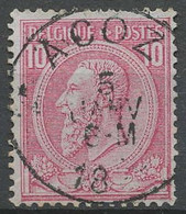 [600222]TB//O/Used-N° 46, 10c Rose, Obl Concours 'ACOZ', Nipa +200 - 1884-1891 Leopold II