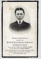 Rudolf Jozef Camiel Honoré SCHAUTTEET - Zoon Van - Dr Schautteet - Wingene 1894 - Aldaar 1908 - Obituary Notices