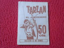 SOBRE DE CROMOS SIN ABRIR TARZÁN EL JUSTICIERO EDITORIAL RUIZ ROMERO 1966, OLD PACKAGE PACKET OF CARDS, SPAIN ESPAGNE... - Sonstige
