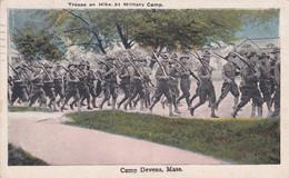 Camp Devens Kansas Tropps On Hike - Guerra 1914-18