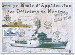 17883 - MARINE NATIONALE - PH JEANNE D'ARC - ENCART A4 - TIMBRE ET OBLITERATION DU 27 MAI 2010 ULTIME ACCOSTAGE - Correo Naval