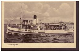 Passanger Ship Stadt Memel,old PC - Lituanie