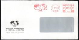 SWITZERLAND ZURICH 1988 - METER / EMA F.I.F.A. FEDERATION INTERNATIONALE FOOTBALL ASSOCIATION - Covers & Documents