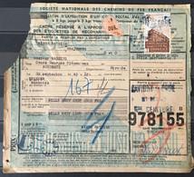 Savigny Sur Orge (Seine Et Oise Puis Essonne Cachet Grande Ceinture) à Bordeaux YT Colis Postaux 200 187x2 Oct 1943– 209 - Covers & Documents