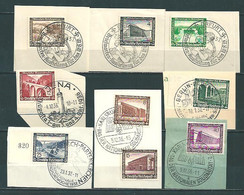 MiNr. 634-642 Briefstücke - Used Stamps
