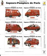 France Vignettes Véhicules Sapeurs Pompiers De Paris N** Avec Gomme 3 Scans - Ohne Zuordnung
