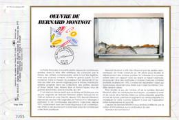 """"""" OEUVRE DE BERNARD MONINOT """" Sur Feuillet CEF 1er Jour N°té  De 1997 N°YT 3050 Parf état FDC - 1990-1999"""