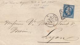 LETTRE. N° 14 PERCE EN LIGNE      /  2 - 1849-1876: Klassik