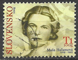 Slovakia 2008. Scott #540 (U) Masa Hal'amovà (1908-86), Poet ** Complete Issue - Used Stamps