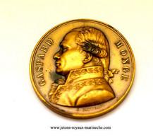 Gaspard Monge. Galerie Métallique N° 79/2  Graveur. E. Gatteaux. 1822. Poinçon Bronze Lampe. Voir Le Livre N° 7 - Monarchia / Nobiltà