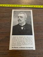 1909 PATI Jos Hoyois Le Défenseur Des Déportés Député De Tournai Ath Mort à Holzminden - Collections