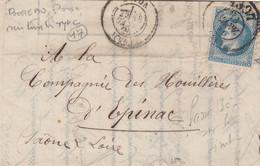 LETTRE. N° 29. CAD BUREAU DE PASSE 1307 DIJON      /  2 - 1849-1876: Klassik