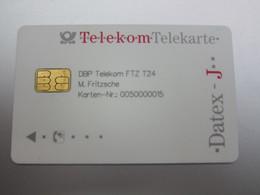 TeleKom Datex-J Chip Card(DBP Telekom FTZ T24),Card Number: 0050000015 - T-Series : Tests