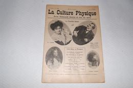 Rare Revue Sport La Culture Physique 1909 - Sport