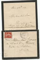 N°138 LETTRE DEUIL SARRAS 17.10.1907 ARDECHE + BOITE C ARNAS - 1877-1920: Semi Modern Period