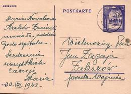 ENTIER POSTAL. REICH. 1944. 12c GENERALGOUVERNEMENT. - Generalregierung