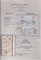 DDY 397 -- Lettre Non Affranchie ANVERS 1858 Vers Le Notaire Dierckx à TURNHOUT - Déroutée (misdirected) Par THOUROUT - Altri