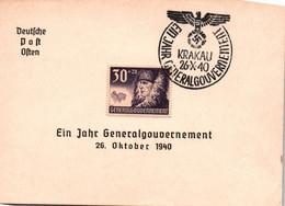 EIN JAHRE GENERALGOUVERNEMENT / KRAKAU / 26 OKTOBER 1940 - Generalregierung