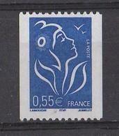 France 2005 YT /  3807 **   ITVF  Numéro Noir Au Dos  109 - 2004-08 Marianne (Lamouche)