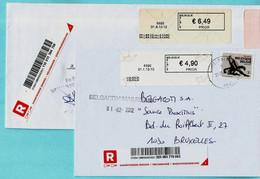 2 BLASTERS Waarvan 1 PP : Postpunt (2010-2012), 6690 VIELSALM + 6698 GRAND-HALLEUX (PP Libr Dejalle-Caro) Op ... - Postage Labels