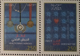 Syria, Syrie, Syrien ,2020 Corona Virus (Covid-19)site As Photo, Very Rare Only 3000 Set Issued MNH **  (Free Shipping) - Nuevos
