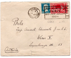 Lettre Avec Flamme Jeux Olympiques Paris Gare Saint Lazare - 1921-1960: Modern Tijdperk