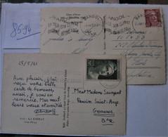 MONDE--- N   85--94 Timbres Seuls Sur Lettre Port En Plus - Verzamelingen (in Albums)
