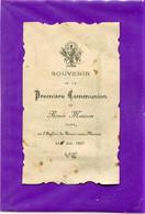 51  .       Première  Communion   .TOURS  Sur  MARNE   .  (  2  Scans ) . - Religione & Esoterismo