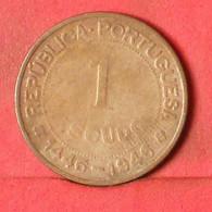 GUINÉ 1 ESCUDO  1946 -    KM# 7 - (Nº39475) - Guinea-Bissau