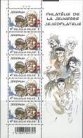 Belgium, 2008, Michel 3799, Youth Philately Jeremiah (Hermann), Sheet Of 5v, MNH - Nuovi