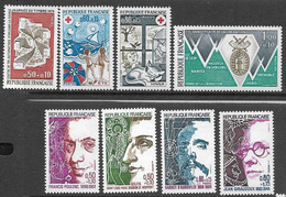 France  1974 Sc#B473-80  Charities  MLH  2016 Scott Value $5.65 - Unused Stamps