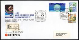 ICE HOCKEY - ITALIA ALBA DI CANAZEI 5.4.1987 - CAMPIONATI DEL MONDO HOCKEY SU GHIACCIO - GRUPPO B - RACCOMANDATA - Jockey (sobre Hielo)