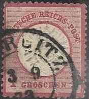 Germany 1872  Sc#17  1gr  Large Shield  Used   2016 Scott Value $6 - Oblitérés