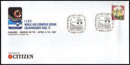 ICE HOCKEY - ITALIA ALBA DI CANAZEI 26.3.1987 - CAMPIONATI DEL MONDO HOCKEY SU GHIACCIO - GRUPPO B - BUSTA UFFICIALE - Jockey (sobre Hielo)
