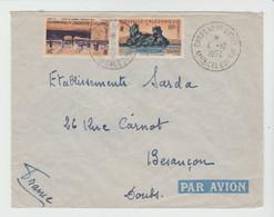 Nlle CALEDONIE: CHEPENEHE / Yv N° 274 & 278 / LSC De 1952 Pour Besançon - Covers & Documents