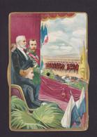 Chromo Publicitaire Au Bon Marché Russie Tsar Nicolas II Russia Loubet Litho à Système Roulette Tsarine - Rusland