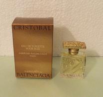 "Miniature De Parfum ""CRISTOBAL"" De BALANCIAGA Eau De Toilette Pour Elle 5 Ml Avec Sa Boîte - Mignon Di Profumo Donna (con Box)"