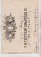 PASSAPORTO IN NOME DI SUA MAESTA VITTORIO EMANUELE II°  RE D'ITALIA  RILASCIATO  A   BELLUNO NEL 1871 - Historical Documents