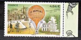 France Nouveauté Ballon Monté Le Nept  2020 Avec Bord De Feuille (feuille De 10) Neuf ** TB MNH Sin Charnela Faciale 4.6 - 1960-.... Nuovi