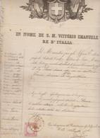 PASSAPORTO   IN NOME DI SUA MAESTA VITTORIO EMANUELE II° RE D'ITALIA DATO A PAVIA IL 1861 - Historische Documenten