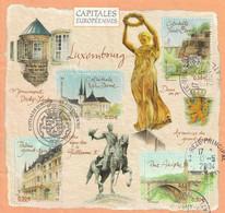 Timbres FRANCE De 2003 Bloc Capitales Européennes Luxembourg  Y&T N°BF64  Oblitéré - Gebraucht