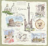 Timbres FRANCE De 2002 Bloc Capitales Européennes Rome  Y&T N°BF53  Oblitéré - Gebraucht