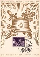 DR 3.Reich Postkarte Militaria Propaganda - Tag Der Briefmarke 1942 - SST SAARBRUCKEN - Einheitsorganisation - Covers & Documents
