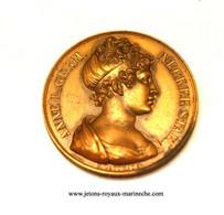 Anne L. Germ. Necker Staël. Galerie Métallique N° 104/2  Graveur E. Gatteaux. F. 1819. Poinçon Bronze Lampe. - Monarchia / Nobiltà