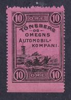Norway LOCAL AUTOMOBILE PARCEL STAMP TÖNSBERG - Autres