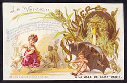 Belle Et Rare CHROMO  A La Ville De Saint-Denis Signe Astrologique Le Verseau, Janvier,  Lith. May & Deymarie  Zodiaque - Andere