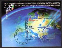 BULGARIA 2001 Atlantic Club (NATO) Block Used..  Michel Block 247 - Gebraucht
