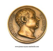 En. Quirinus Visconti. Galerie Métallique N° 118/2  Graveur Donadio. 1818. Poinçon Bronze Lampe. Voir Le Livre N° 7 - Monarchia / Nobiltà